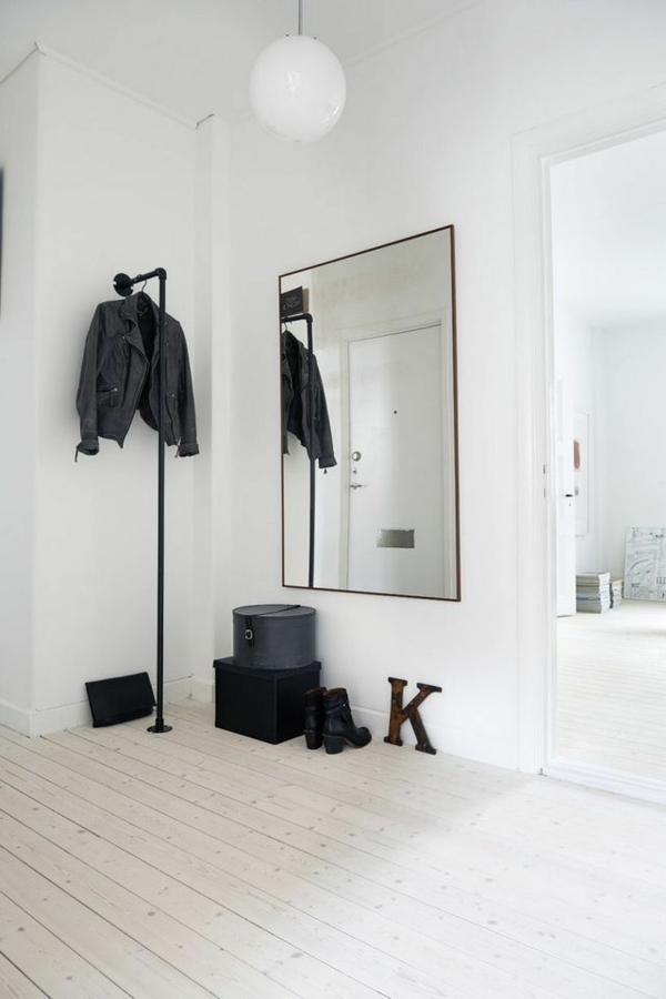 bastelideen kleiderhaken ankleidezimmer selber bauen wandpiegel rohr
