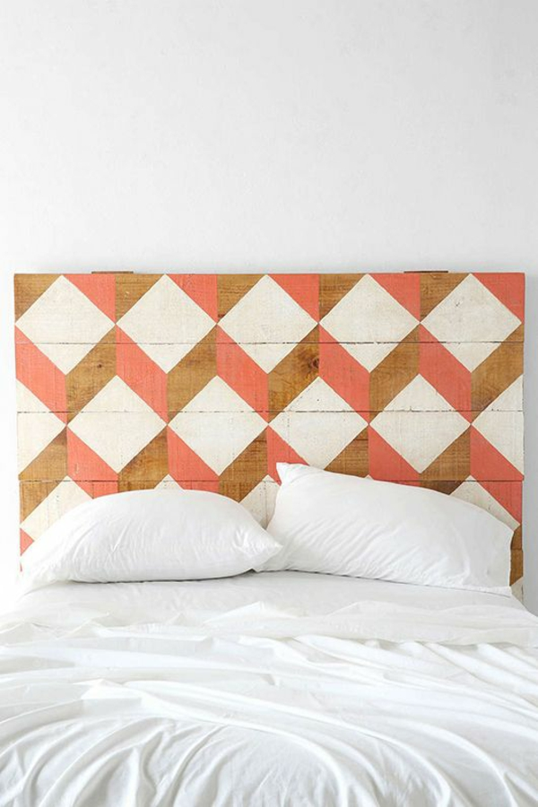 30 ideen f r bett kopfteil m rchenhafte und kunstvolle. Black Bedroom Furniture Sets. Home Design Ideas