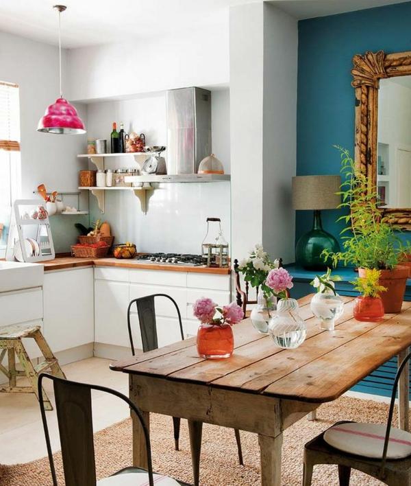 bunte wandfarbe küche wände
