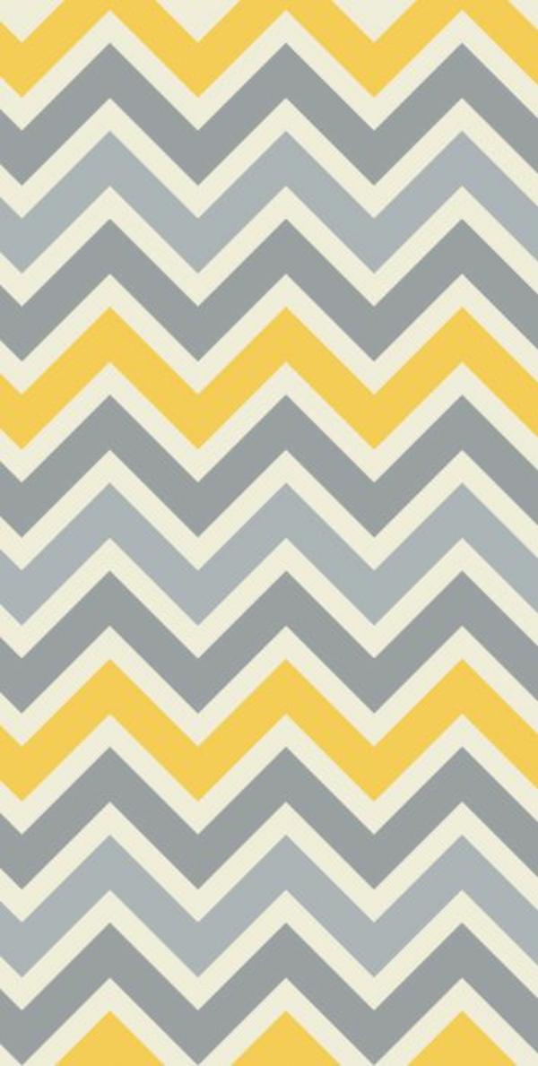 Chevron Muster Grau Gelb Gelbe Tepete Mustertapeten Wohnzimmer  Wandgestaltung