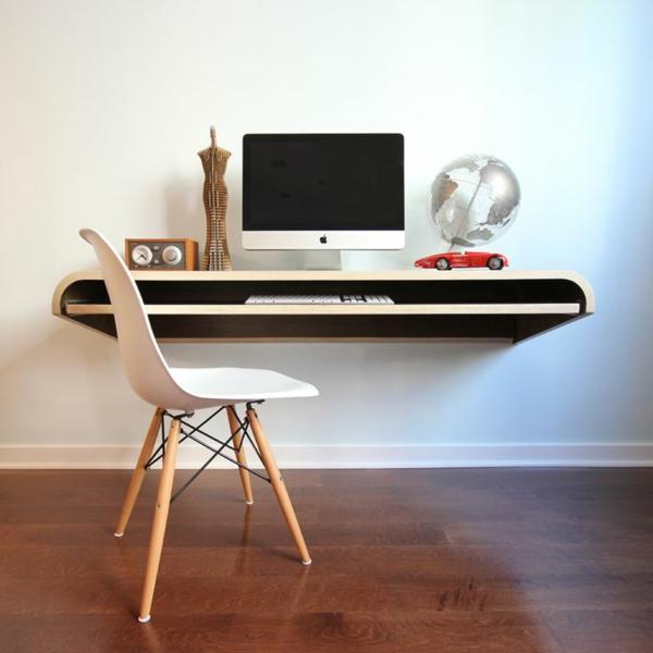 computertische büroeinrichtung wandtisch minimalistisch modern heimböro gestalten