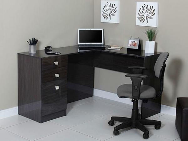 computertische eck komputertisch schwarz büroeinrichtung büromöbel