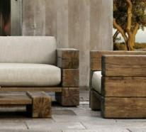 Terrassenmöbel holz massiv modern  Ein Couchtisch aus Holz fügt Wärme und Natürlichkeit im Wohnzimmer bei
