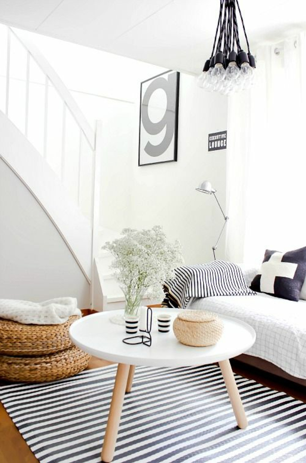 couchtisch rund holz beine wohnzimmer modern einrichten runde couchtische