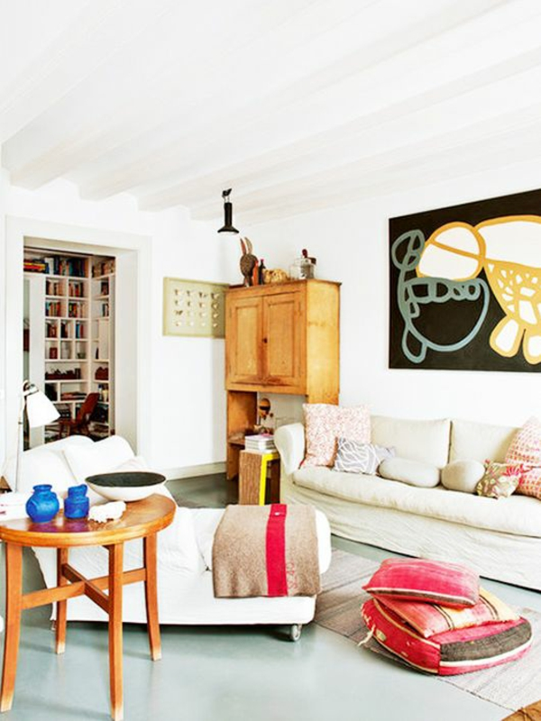 couchtisch rund holz einrichtung wohnzimmer einrichtungsideen
