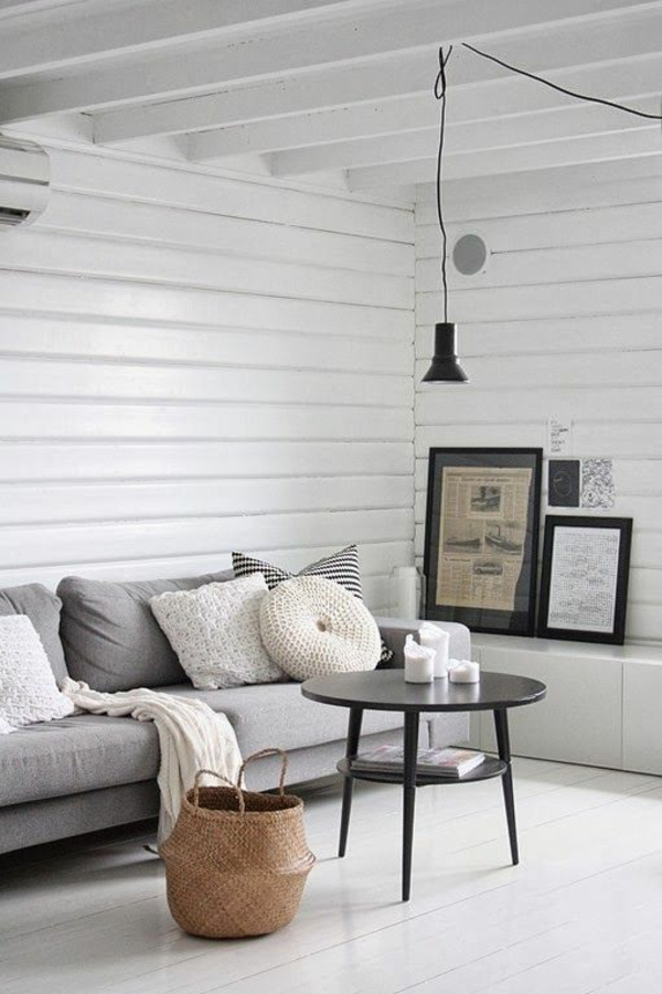 Couchtisch Rund Holz Schwarz Elegant Wohnzimmer Modern Einrichten