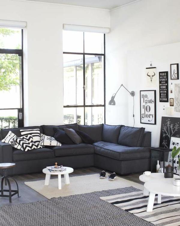 couchtisch rund holz weiß beistelltisch wohnzimmer sofa