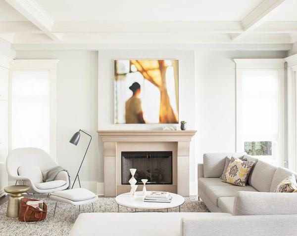 couchtisch rund weiß einrichtung wohnzimmer sofa ecksofa kamin