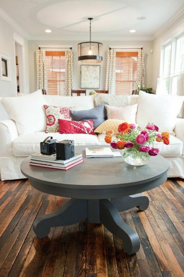 couchtisch rund wohnzimmer sofa weiß runder couchtisch holz