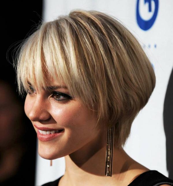 damen frisuren modern 2013 ideen kurze haare strähne