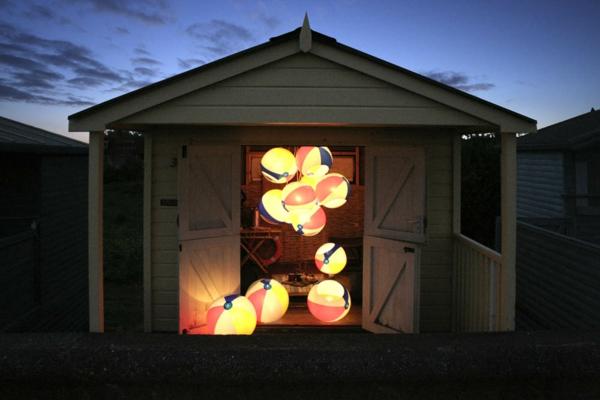 design leuchten kugel pendelleuchte strandball wasserball aufblasbar