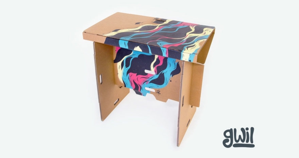 designer tische kartonpapier dekoration