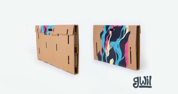 au ergew hnliche m bel ausgefallener tisch aus kartonpapier. Black Bedroom Furniture Sets. Home Design Ideas