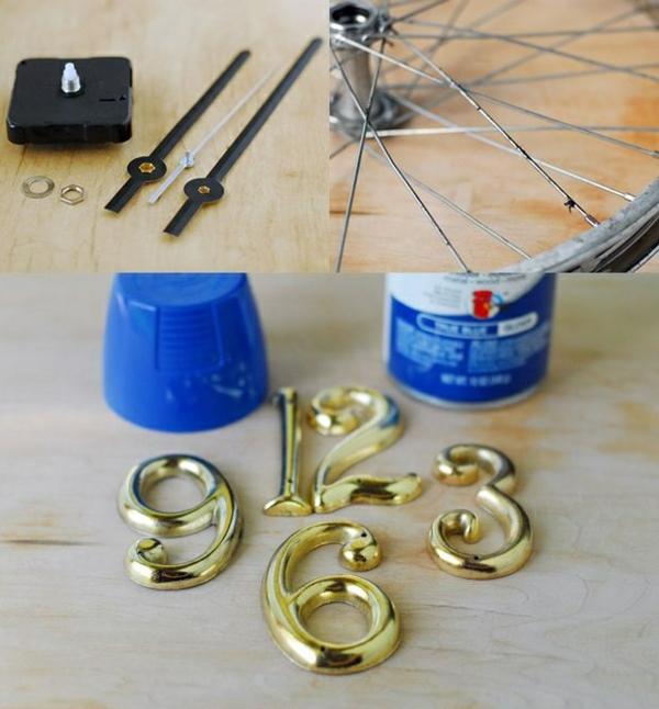 diy ideen fahrrad diy möbel uhr kreative wohnideen bastelideen materialien