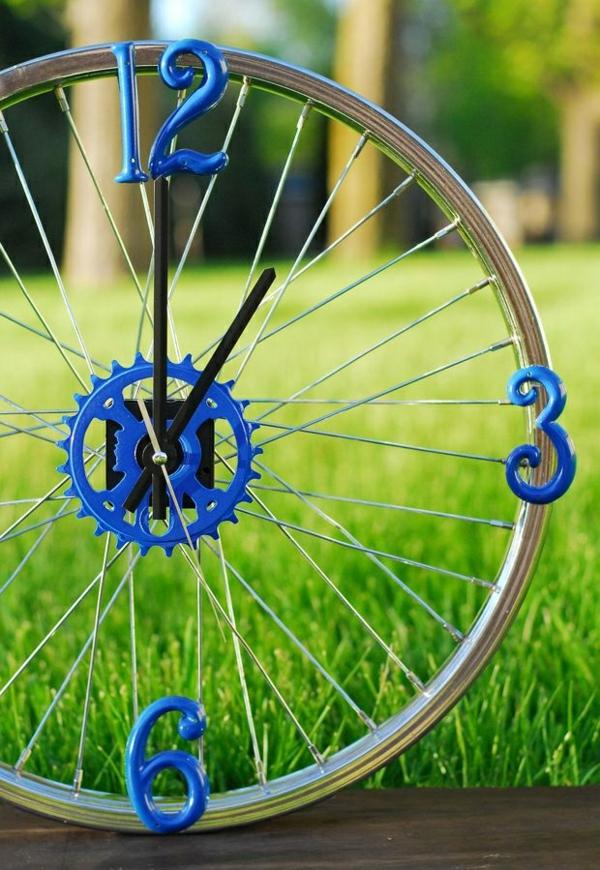 diy ideen fahrrad diy mäbel uhr kreative wohnideen