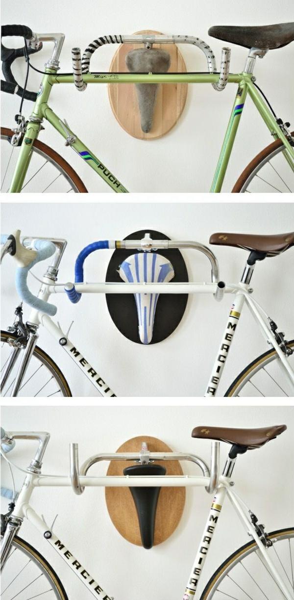 diy ideen fahrrad ständer bastelideen wohnideen selber machen