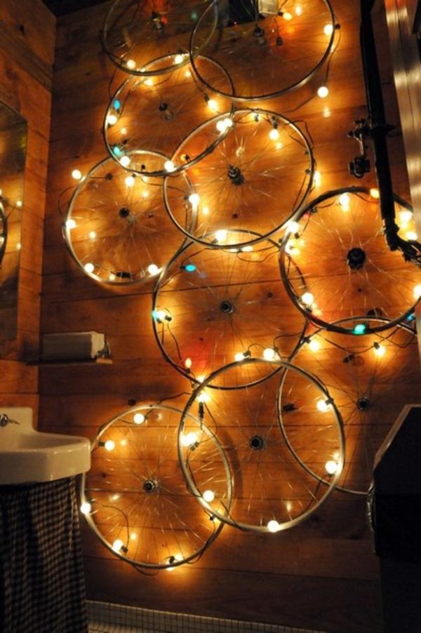 diy wohnideen fahrrad diy leuchten bastelideen wandbeleuchtung