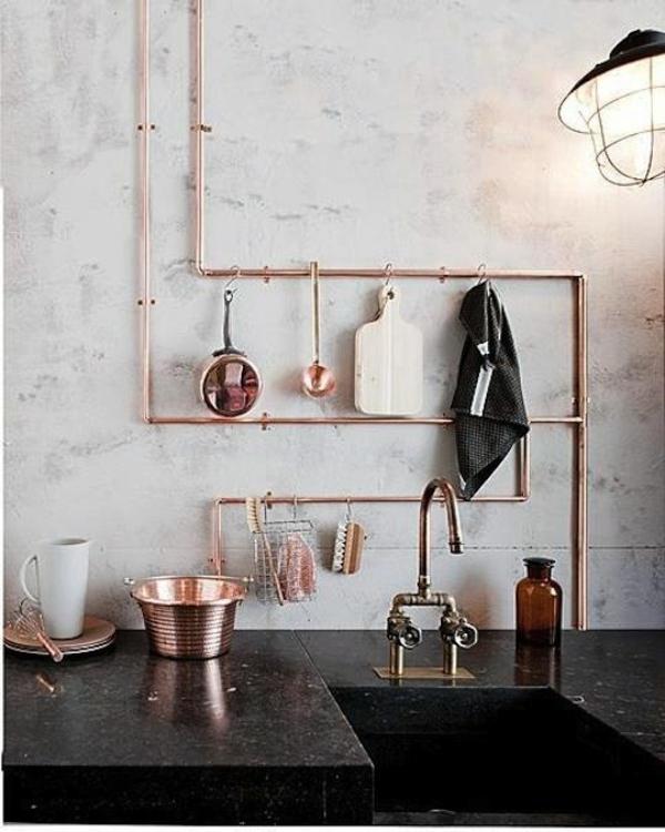 diy wohnideen metallrohr küchenideen regal wohnideen selber machen