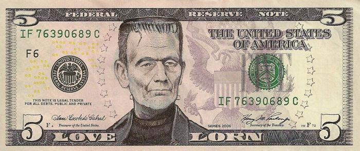 dollar scheine frankenstein gesicht us dollar  in euro umrechnen