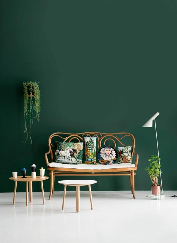 dunkel grüne wandfarbe