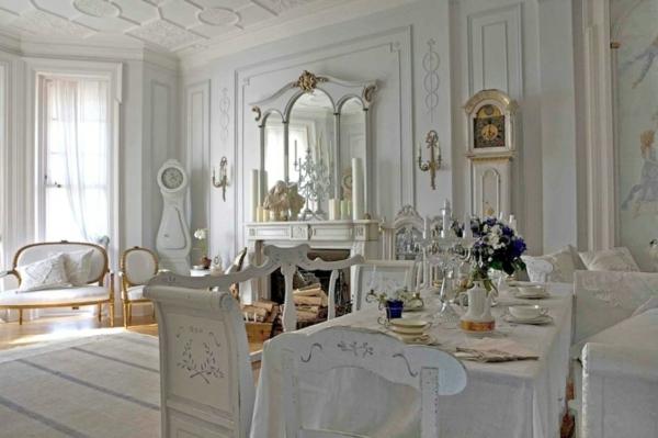 einrichtung wohnzimmer im scandinavischen stil rustikal weiß goldakzente