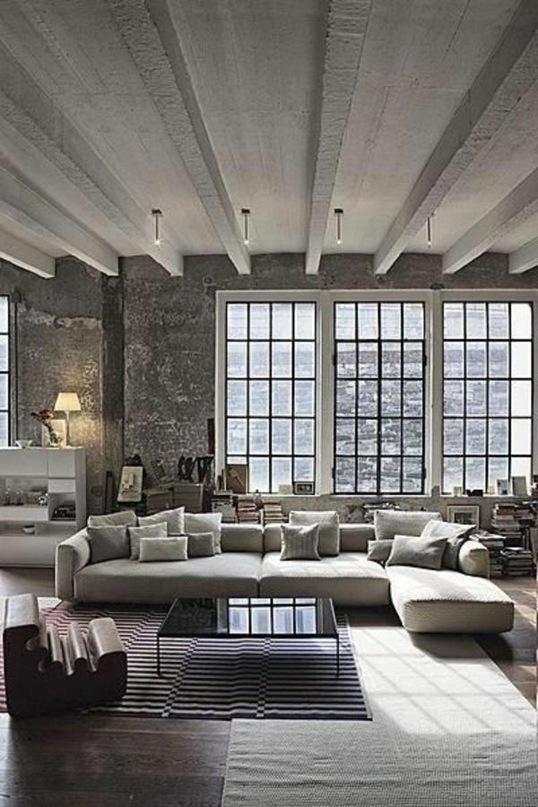 einrichtungsideen wohnzimmer möbel modern dunkel