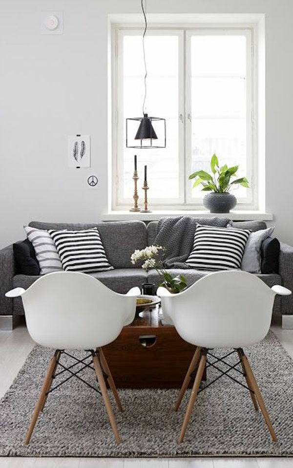 Einrichtungsideen Wohnzimmer Möbel´modern Trendy Akryl Stühle