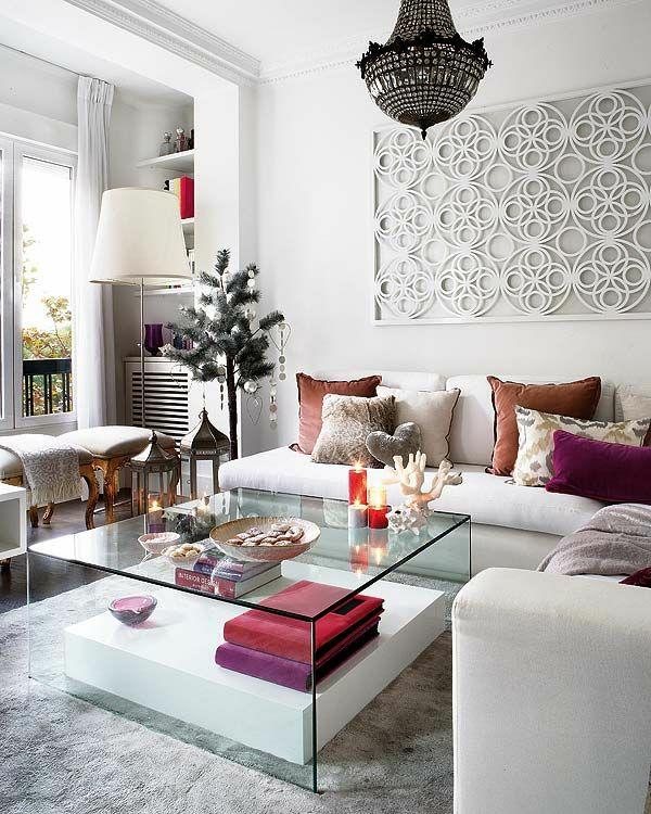 marokkanisch wohnzimmer möbel modern trendy glas tischplatte
