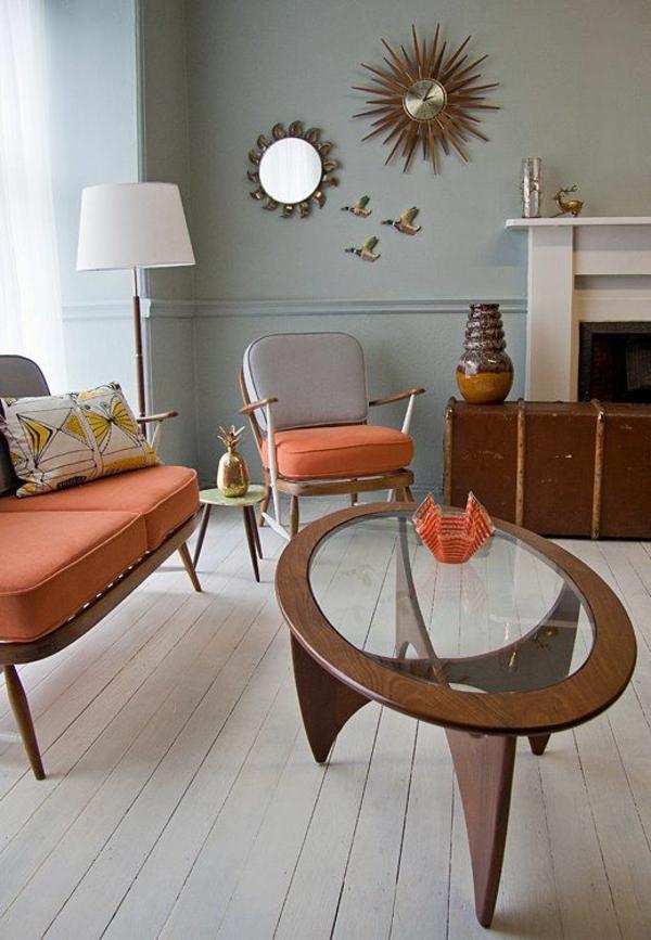 einrichtungsideen wohnzimmer möbel modern trendy holz oval tisch