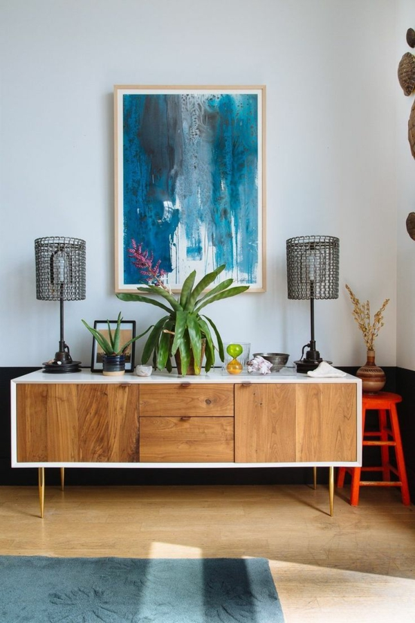 einrichtungsideen wohnzimmer möbel modern trendy kommode