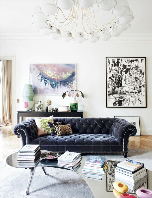 einrichtungsideen wohnzimmer möbel modern trendy polstersofa