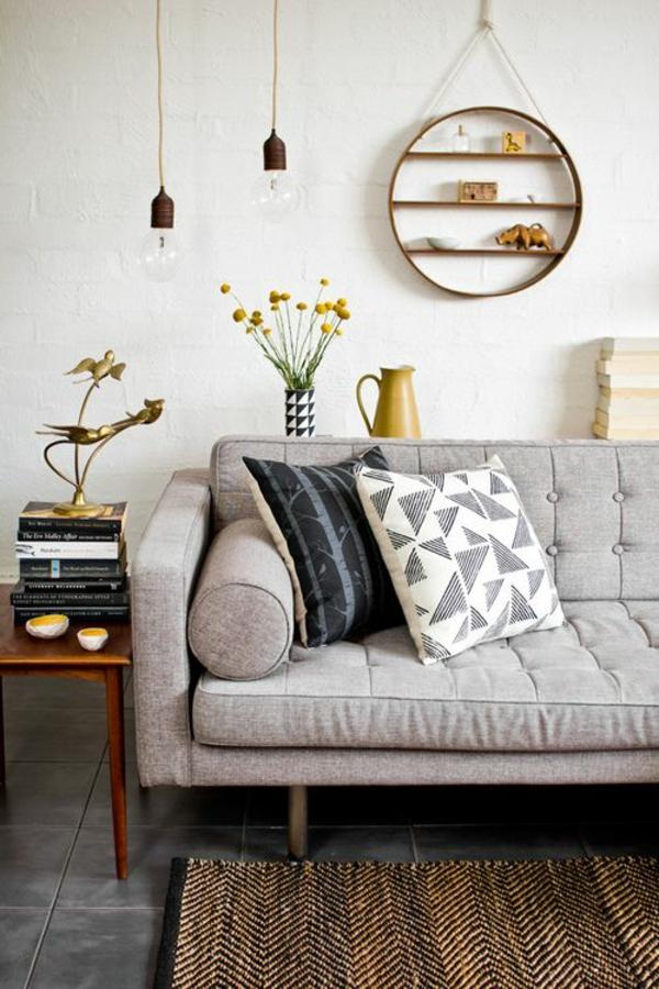 glühbirnen wohnzimmer möbel modern trendy sofa grau