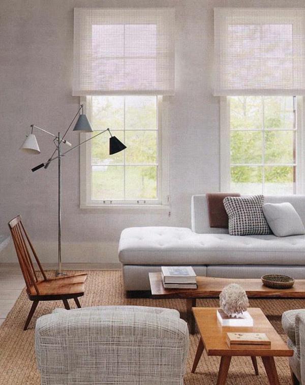 rollladen wohnzimmer möbel modern trendy stehlampe