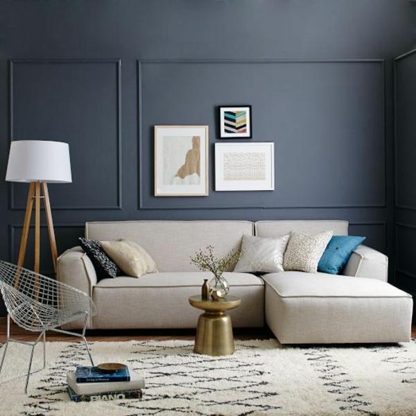 einrichtungsideen wohnzimmer möbel modern trendy wand paneele