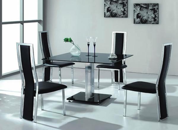 esszimmertisch mit stühlen esstisch glas schwarz kommode esszimmer