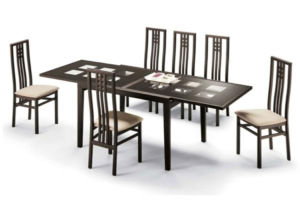 esszimmertisch mit st hlen die ein modernes ambiente kreieren. Black Bedroom Furniture Sets. Home Design Ideas