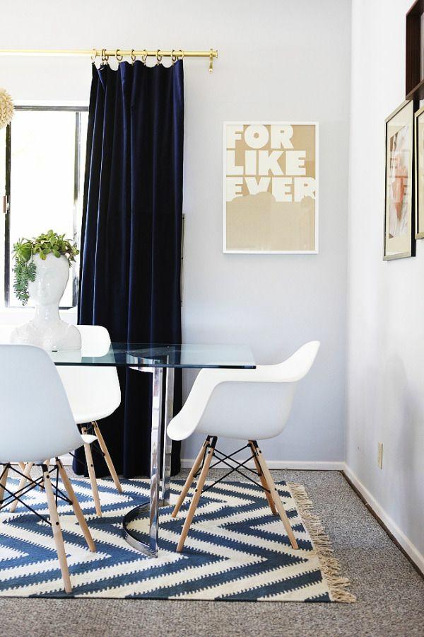 esszimmertisch mit stühlen gardinen ideen fertiggardinen moderne vorhänge