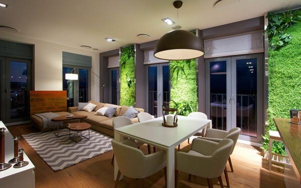 Moderne wohnideen richtig beleuchteter vertikaler garten for Quiero ver comedores