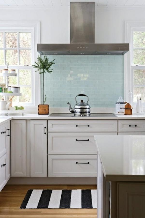 fliesenspiegel glas küchenrückwand spritzschutz küche küchenrückwände