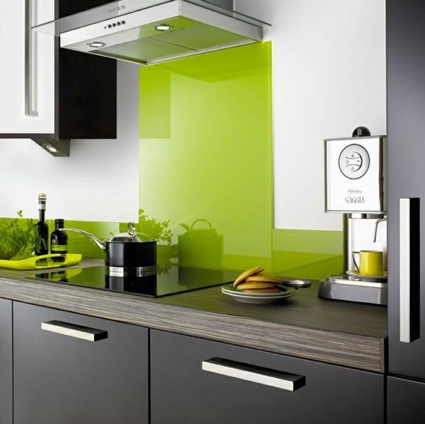 fliesenspiegel küche glas küchenrückwand spritzschutz küche glaswand grün