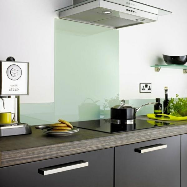 fliesenspiegel küche glas küchenrückwand spritzschutz küche glaswand mintgrün