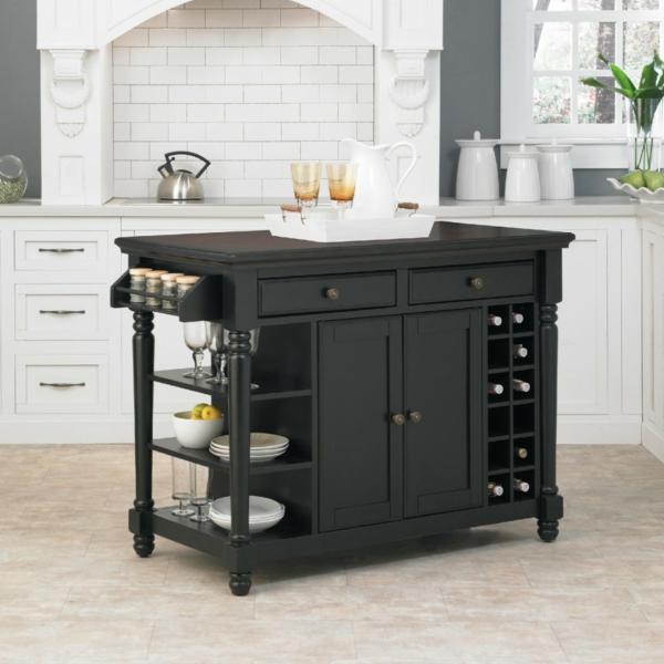 fliesenspiegel küche rückwand küche küchenfliesen weiß holz kücheninsel schwarz