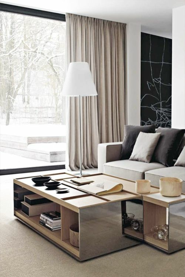 moderne wohnzimmer gardienen interessante. Black Bedroom Furniture Sets. Home Design Ideas