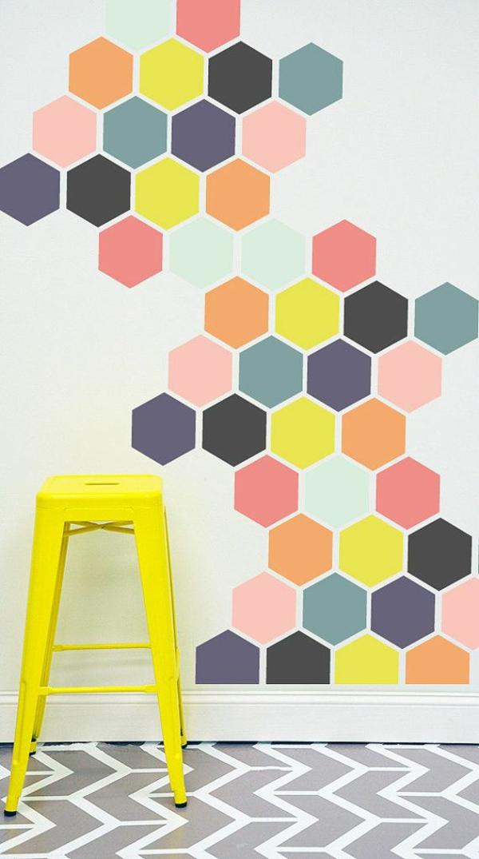 Wandgestaltung Mit Tapeten Und Farben eine gelbe tapete im schlaf oder wohnzimmer wirkt sehr erfrischend