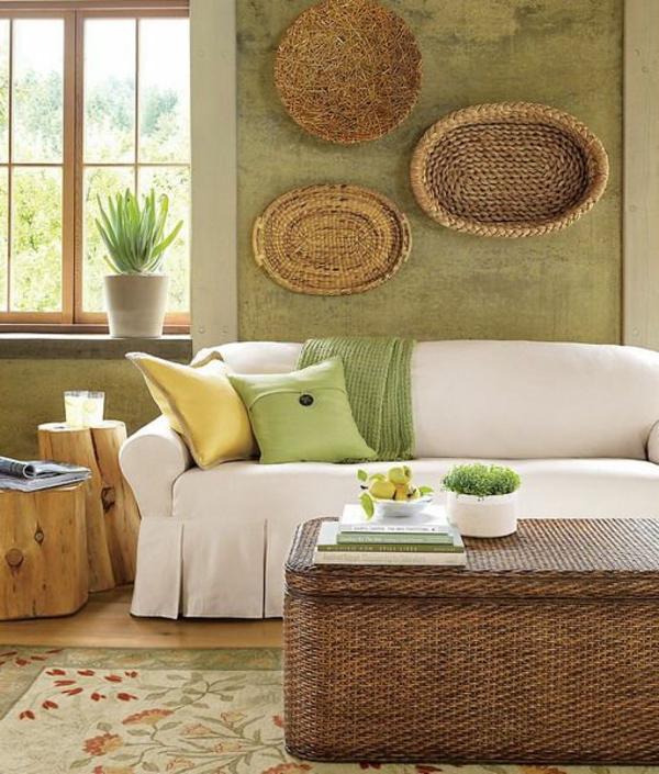 grün und barun dekoriert