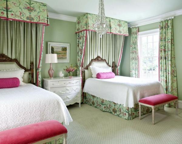 grün und rosa kombiniert