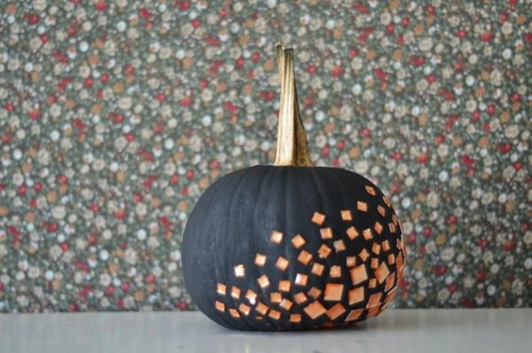 halloween dekoration kürbis bemalen verzieren