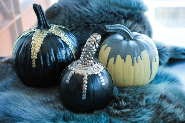 halloween dekoration schwarz silber gold