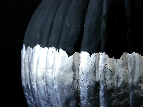 halloween dekoration schwarz silber