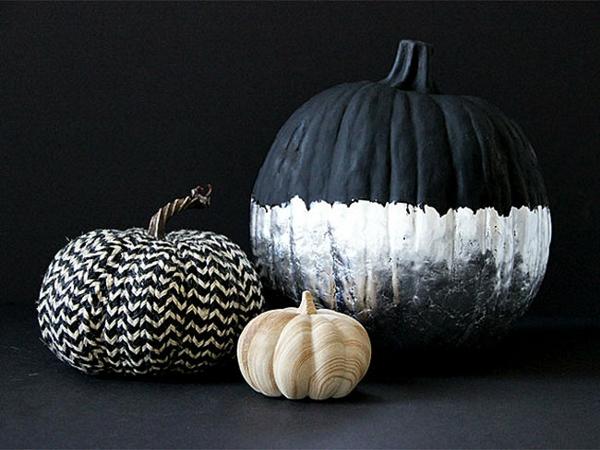 halloween dekoration schwarz weiß